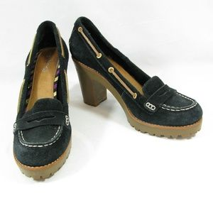 Sperry 9.5 Darlington Heeled Loafers Boat Shoes